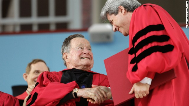 Harvard awards George H.W. Bush honorary degree