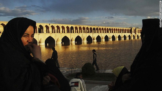 Isfahan is one of Iran's great treasures, breathtakingly elegant, located at the foot of the Zagros mountains. Romantics should try a walk along Zayandeh River to the beautiful Khaju Bridge (pictured).