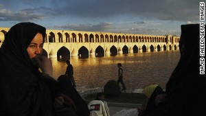 Iran can be romantic -- try a walk along Zayandeh river to the beautiful Khaju bridge.