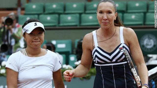 Jelena Jankovic of Serbia is emerging as a major threat in a wide open women's draw and reached the third round with victory over Japan's Kurumi Nara.