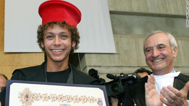 Rossi is a hero in his native Italy and particularly in the Marche region where he was born and still lives. In recognition of his achievements he received an honorary degree in 2005 from the famous university at Urbino.