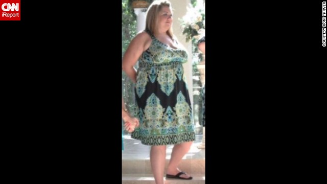 """June 2012: Photos like this one from a wedding were a wake-up call for Tarver. """"I couldn't believe how big I was from the side ... I was so uncomfortable throughout the ceremony because of how big I was compared to the other bridesmaids in the wedding party. I had specifically chosen that style of dress to hide my stomach."""""""