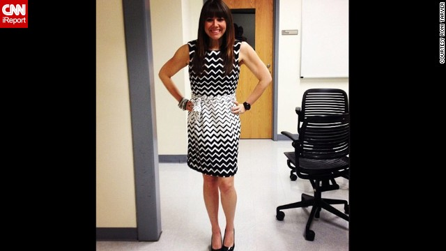 "March 2014: ""This was my first size 6 dress that I fit into since middle school. I was over the moon excited about being able to zip it up in the back without struggling."""