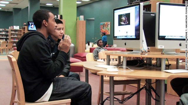 """The program is based in the principle of connected learning, which suggests teens thrive in learning environments where """"hanging out, messing around and geeking out"""" is encouraged."""