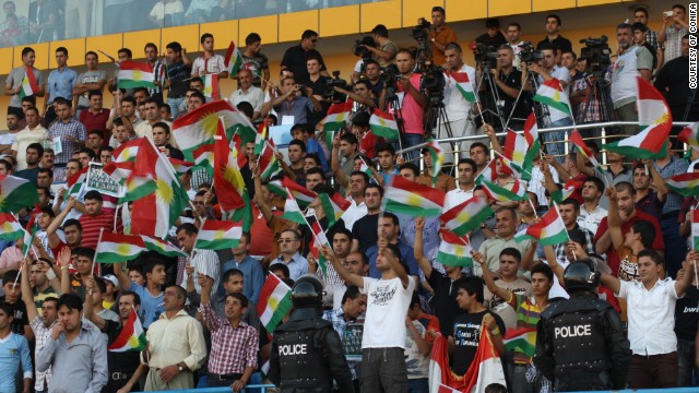 Kurdistan fans were out in force to support their team at the 2012 tournament -- there are over 40 million stateless Kurds in the world today.