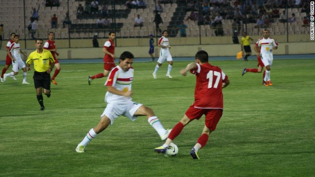 Iraqi Kurdistan took on Cyprus in the 2012 Viva World Cup final in Kurdistan -- the hosts won 2-1.