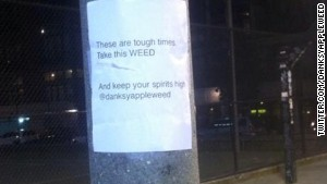 Somebody already got to this one, but here\'s another Weed Fairy flier posted in Seattle.