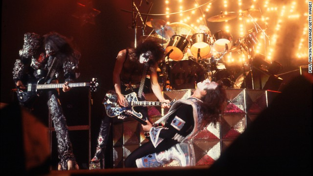 "Kiss used makeup to take its stage persona to another level. The group built its fan base over <a href='http://www.cnn.com/2014/05/02/showbiz/gallery/40-years-of-kiss/'>40 years</a> of constant touring and was rewarded with such hit singles as ""Rock and Roll All Nite,"" ""Beth"" and ""Hard Luck Woman."""