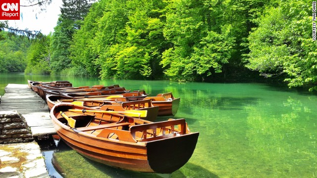"Croatia's <a href='http://www.np-plitvicka-jezera.hr/en/' target='_blank'>Plitvice Lakes National Park</a> is the oldest national park in Southeast Europe. <a href='http://ireport.cnn.com/docs/DOC-1138339'>Thai Dang</a> says the UNESCO World Heritage Site is famous for its 16 lakes, which are arranged in cascades and are connected to each other. ""The color of the lakes change from azure to green or blue, depending on the sunlight, angle or the quantity of minerals and organisms,"" she says."