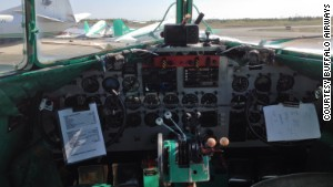 The DC-3 cockpit \