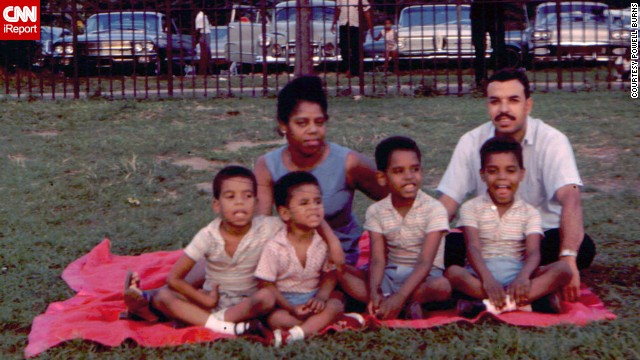<a href='http://ireport.cnn.com/docs/DOC-1119195'>Powell Burns, </a>third child from left, says his father enjoyed taking his sons on weekend excursions and always had his camera with him. This photo was taken in 1963.