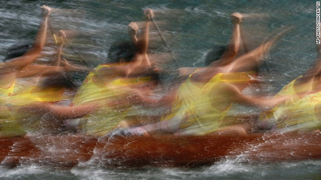 JUNE 2 - HONG KONG: Participants compete in a dragon boat race as part of celebrations marking the Chinese Dragon Boat Festival during the <a href='http://travel.cnn.com/hong-kong/secrets-dragon-boat-festival-rice-dumpling-revealed-962694'>fifth day of the fifth lunar month. </a>The tradition is <a href='http://travel.cnn.com/shanghai/life/what-does-dragon-boat-festival-mean-you-272714'>one of the most important events </a>on the Chinese calendar.