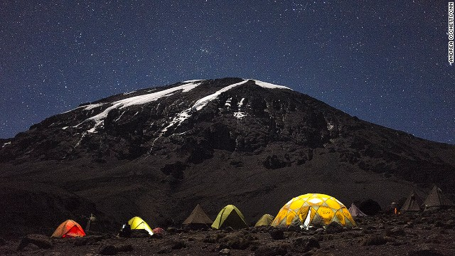 The final bid to the summit of Kilimanjaro is often done at night. The author climbed during the day and successfully avoided the crowds.