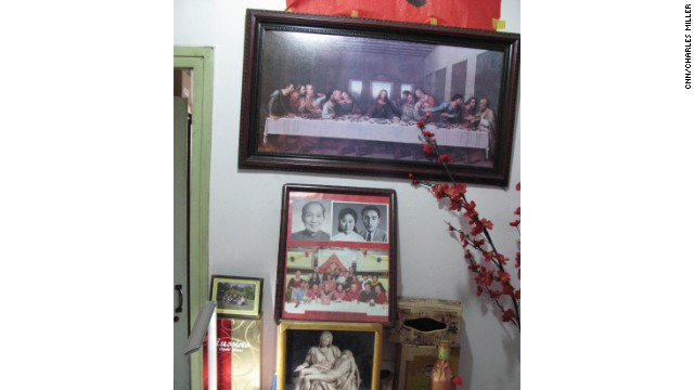 Wang Jingyao keeps a modest shrine to his wife in his cramped apartment. He isn't a religious man, but the Last Supper reminds him of the last meal he had with his wife the night before she was murdered.
