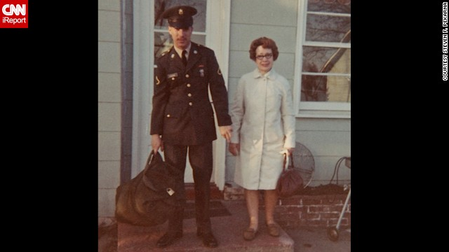 "Of course there were signs of the times in some photos, like this one showing <a href='http://ireport.cnn.com/docs/DOC-1137463'>Steven F. Pekarna </a>leaving his Minnesota home for Vietnam in 1969: ""I was afraid to go to Vietnam -- the press gave it a one-way trip. I felt my mother trembling when I hugged her good-bye."""