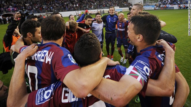 Tiny Eibar is about to play in Spain's top league for the first time in its history. It will be the smallest team ever to compete in La Liga, with a town of just 27,000 people and a stadium that holds just under 6,000. It begins with a home derby against Basque neighbors Real Sociedad on Sunday,