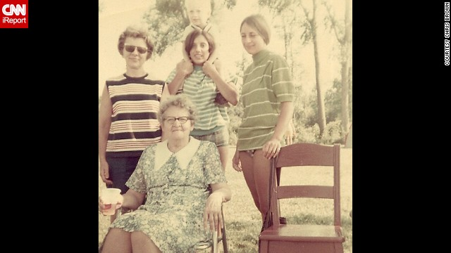 "<a href='http://ireport.cnn.com/docs/DOC-1125571'>Chris Brown</a>, not pictured, shared this photo because it captures three generations of his family in 1969 in Radisson, Wisconsin. He often thinks about ""how simple life really must have been back then."""
