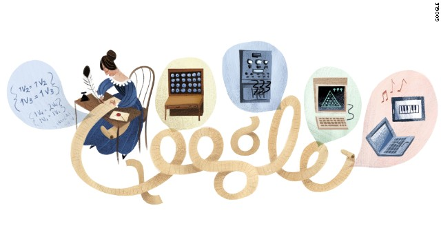 December 10, 2012: The 197th birthday of Ada Lovelace, a mathematician who is thought to be the first computer programmer.