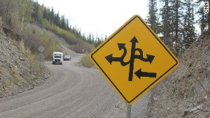 There are exactly zero turns to be made along remote Grande Drive.