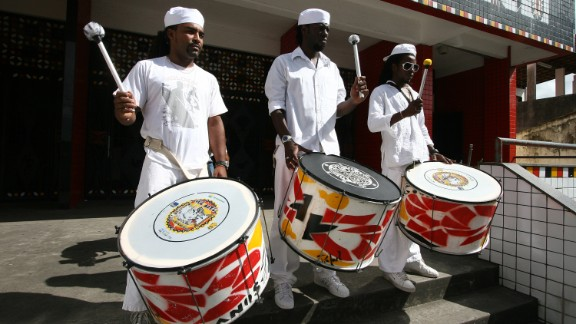 "Mourning drums are played during the funeral ceremony of Mae Hilda (""Mother Hilda""), spiritual leader of the group Ile Aye, who died last Saturday (September 19th) at the age of 86, at the Ile Axe Jitolu on September 20, 2009 in Salvador, Brazil. The Ile Aye, an association that started with a carnival block, is one of the most important groups of preservation of the African culture in Brazil."