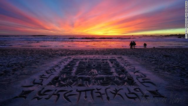 Arte escrito en la arena