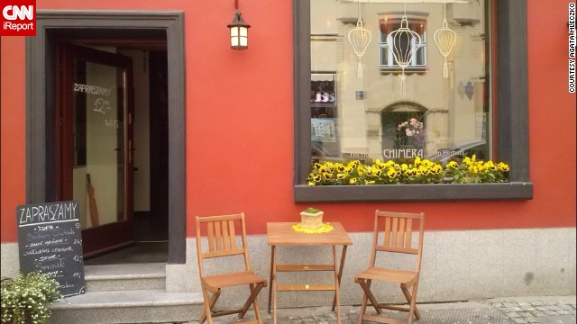 "<strong>3. Coffee:</strong> Agata Mleczko loves the <a href='http://ireport.cnn.com/docs/DOC-1137098'>coffee culture</a> in her hometown of Poznan, Poland.""You've got vintage cafes, modern cafes, teahouses, places where you drink chocolate and taste local sweets ... you can spend all your day in cafes!"""