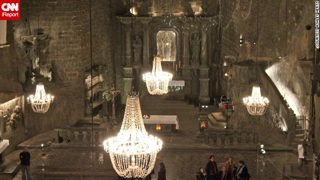 <strong>6. Wieliczka Salt Mine:</strong> Ashley Hertz wasn't quite sure what to expect when she visited <a href='http://ireport.cnn.com/docs/DOC-1138704'>Wieliczka Salt Mine</a>, but it ended up being one of the most amazing parts of her trip to Poland. The underground mine near Krakow features a lake, stables, statues and a cathedral carved entirely out of salt.