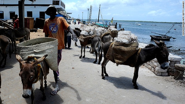 As a result, locals use donkeys to navigate the roads.