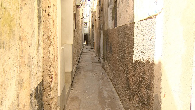 There are no cars on the island -- the streets are too narrow and winding.