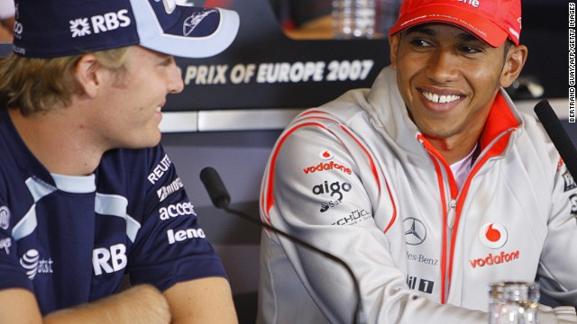 Both born in 1985, Rosberg and Hamilton have grown up together on the junior racing scene. The pair, pictured here at the start of their F1 careers in 2007, have always maintained a friendship -- but that relationship is now under pressure.