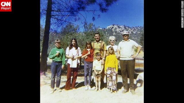"<a href='http://ireport.cnn.com/docs/DOC-1119538'>Regina Pierce </a>dubbed this 1968 family trip the ""flower power camping trip"" to Simi Valley, California. Pierce is the blond girl on the front right. ""In those days, everyone in the neighborhood knew each other (and their kids),"" she said. ""It wasn't unusual for the families to not only socialize, but yes, even go camping together!"""