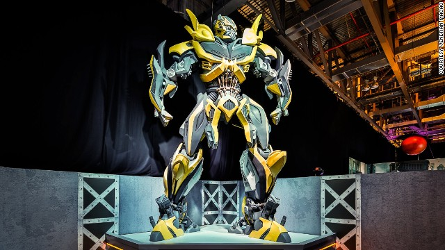 China showcases its love affair with shape-shifting robots this month with the launch of the Transformers 30th Anniversary Expo. Seven-meter-tall statues of Bumblebee and Optimus Prime are featured. They're leading characters in the Transformer franchise. Don't pretend you didn't know that.