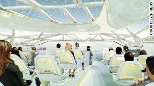 See-through cabins and passenger pods