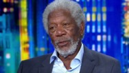 "You know the voice of Morgan Freeman: commanding, firm, resonant. He's even played God. On Thursday's ""Tonight,"" he inhaled helium."