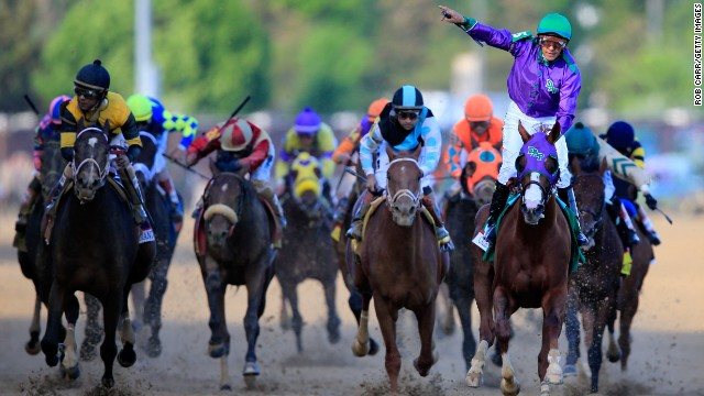 California Chrome's bid for the triple began with victory at the Kentucky Derby five weeks ago.
