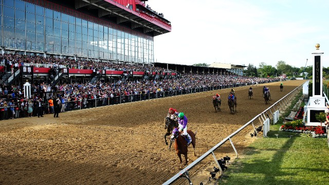 And leg two was ticked off at the Preakness Stakes, making the triple a distinct possibility this Saturday at Belmont Park.