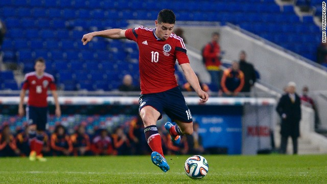 James Rodriguez (Colombia): He looks like a kid but brings a mature game for a 22-year-old. Lightning-quick with deft ball control and passing, he's earned lofty comparisons to Colombian demigod Carlos Valderrama. Days before his 19th birthday in 2010, Rodriguez joined Porto, where he played three seasons before Monaco paid €45 million for his transfer. He notched 10 goals and 12 assists for the French side this season.