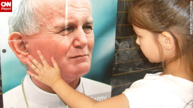 To celebrate Poland's 25 years of independence, readers shared their favorite things about the country. The most famous person in Poland is arguably <a href='http://ireport.cnn.com/docs/DOC-1140033'>Pope John Paul II</a>. From posters to personal shrines, Poles find ways to remember the first Polish pope.
