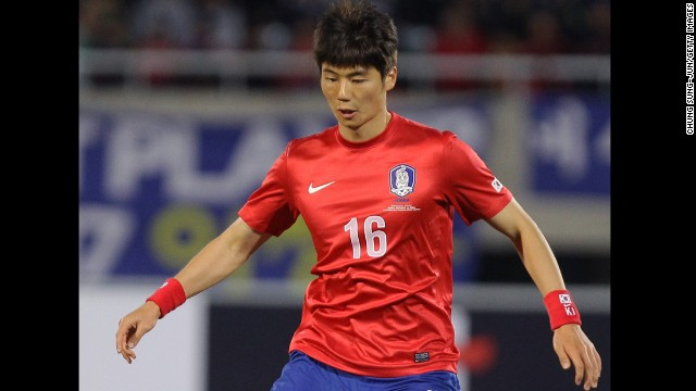 <strong>Ki Sung-yueng (South Korea):</strong> He's a controversial young fellow. He's snarked at fans, insulted his manager and once celebrated an Asian Cup goal with an impersonation that <a href='http://bleacherreport.com/articles/587718-south-koreas-ki-sung-yeung-blames-scottish-fans-for-his-racism-taunts' target='_blank'>had some Japanese crying racism</a>. Most recently, he put the wrong hand on his chest during the national anthem. All that aside, he's a talented central midfielder who's made more than one defender look silly since joining the English Premier League in 2012.