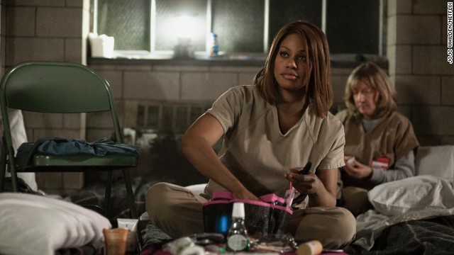 Sophia Burset (Laverne Cox) is transgender and serves as the prison's hairdresser. Her sexual identity causes her to sometimes be bullied by some of the other inmates.