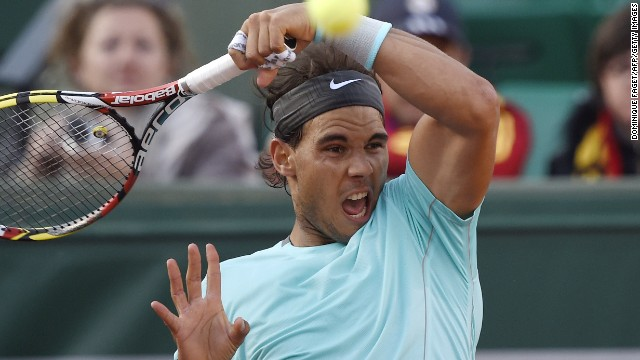 Rafael Nadal recovered from losing the opening set to defeat fellow Spaniard David Ferrer 4-6 6-4 6-0 6-1.