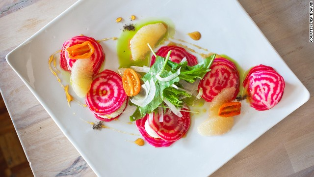Vancouver's new crop of vegetarian restaurants include The Acorn, which serves artfully composed dishes that taste as good as they look.