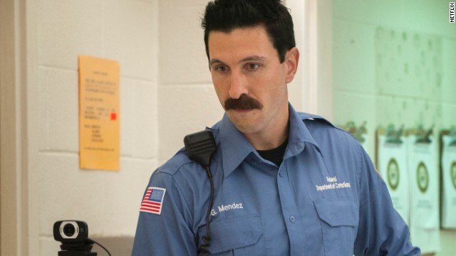 Pablo Schreiber plays corrupt prison guard George Mendez, better known as Pornstache (one guess why). He breaks all the rules, from smuggling drugs into the prison to having sex with inmates. In season one, he is suspended without pay for his actions.