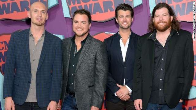 From left, Jon Jones, Mike Eli, Chris Thompson and James Young of the Eli Young Band