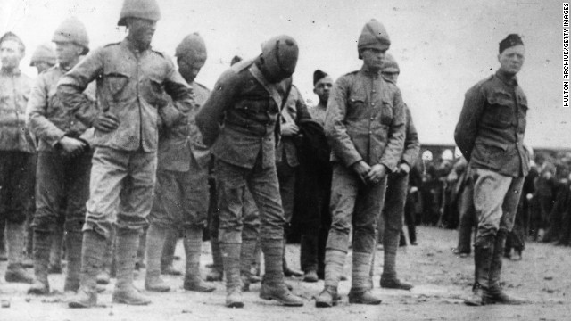 Winston Churchill was a journalist, not a soldier. Nonetheless, he found himself captured in South Africa in 1899, after Boer soldiers ambushed an armored train. But Churchill, pictured at right with other prisoners, didn't stay in Pretoria for long. Less than a month after his capture, he hurdled a prison wall and walked free. The episode helped catapult Churchill's standing in his native Britain. But he didn't stop there. Churchill went on to become one of his country's most recognizable figures over the subsequent decades, including as its prime minister in the thick of World War II.