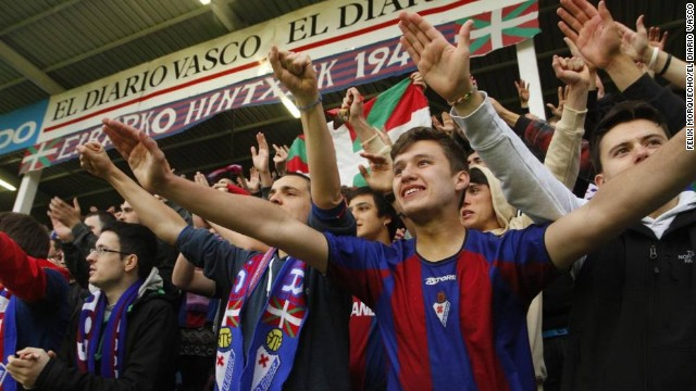 "Eibar president Alex Aranzabal says the club's ""soul"" has been key in its recent transformation. ""It's very important for us that the club and the fans are together because we have to create very special conditions, like a mystique. It is raining, everything is dark, surrounded by the Basque mountains and the people are feeling what the players are feeling. It can be quite frightening for the opposition."""
