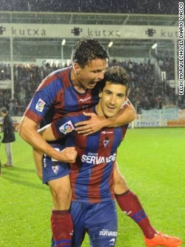 "Local journalist Mikel Madinabeitia told CNN: ""It's a typical rags to riches story. I wrote in my newspaper Eibar has been the D'Artagnan of the second division, with that famous catchphrase 'All for one and one for all.' There are no celebrities in this team, no millionaires."""