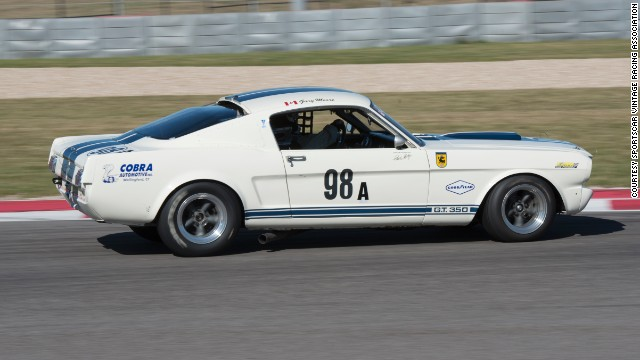 This muscular 1965 Mustang GT 350 is owned by Gary Moore, who is scheduled to race it along with Indianapolis 500 veteran Eliseo Salazar.
