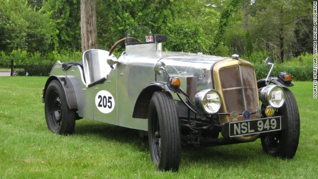 The engine in this 1937 Singer Bantam Special was replaced with a 1969 Triumph Spitfire 1300 cubic centimeter engine. It is scheduled to race at the invitational.