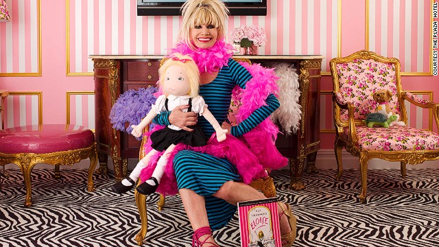 In 2010, The Plaza tapped Betsey Johnson to design the Eloise Suite -- a candy-striped room inspired by the children's book character of the same name.